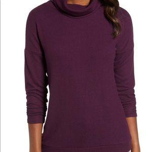 Gibson Cross Over Purple Turtleneck Sweater Sz XXL